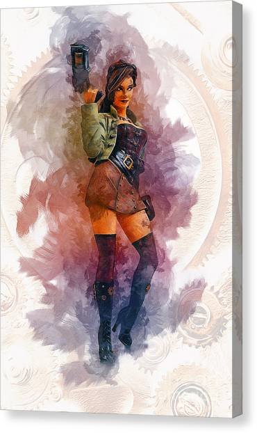 Steampunk Girl Canvas Print