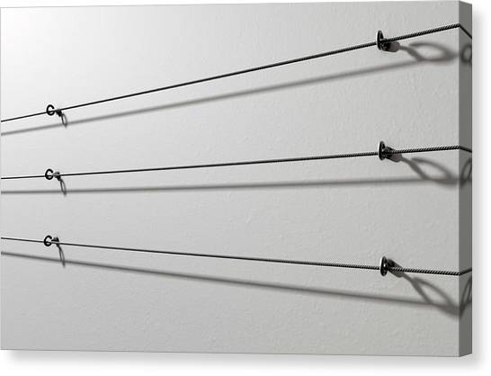 Demo Canvas Print - Steel Cable Display Wall by Allan Swart