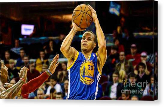 Stephen Curry Canvas Print - Steph Curry Collection by Marvin Blaine