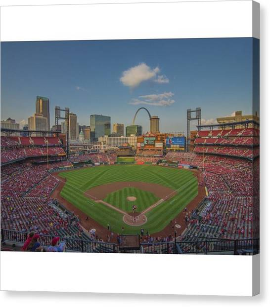 Baseball Canvas Print - #stlouiscardinals #cardinals by David Haskett II
