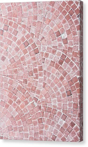 Brick Sidewalk Canvas Print - Stone Tiles by Tom Gowanlock
