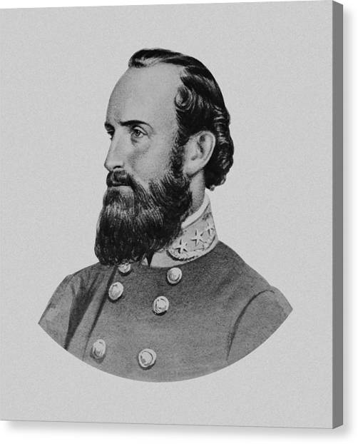 Confederate Army Canvas Print - Stonewall Jackson - Six by War Is Hell Store