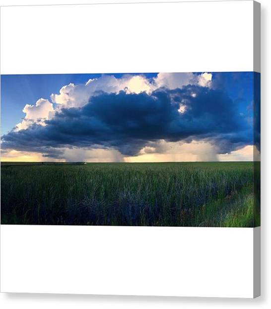 Everglades Canvas Print - Storm On The Everglades At Sunset by Juan Silva