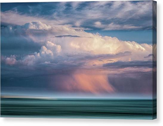 Storm On The Sound Canvas Print