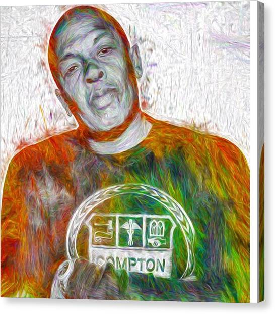 Bands Canvas Print - Straight Outta Canvas Dr Dre #drdre by David Haskett II