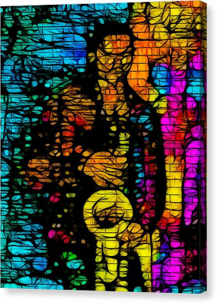 Street Jazz Canvas Print