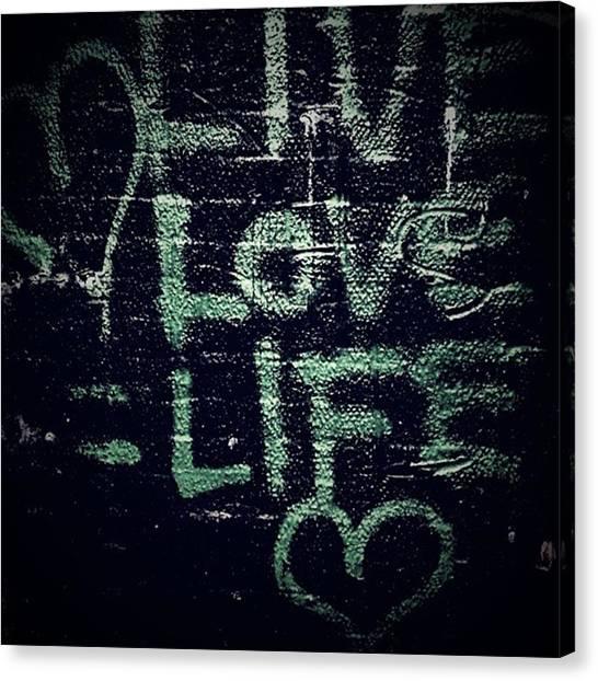 Graffiti Walls Canvas Print - #streetart #street #streetphotography by Jason Michael Roust
