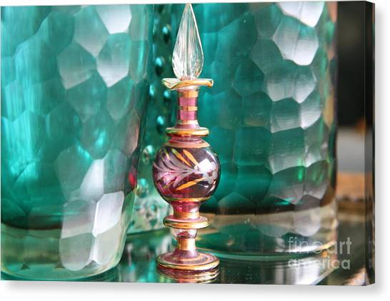 Decorative Glass Canvas Print   Studies In Glass ..juxtaposed By Lynn  England