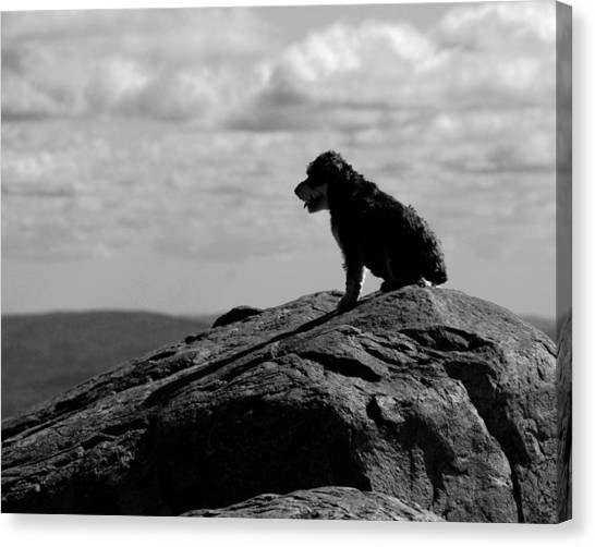 Summit Silhouette Canvas Print