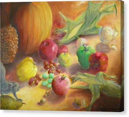 Sunlit Harvest Canvas Print