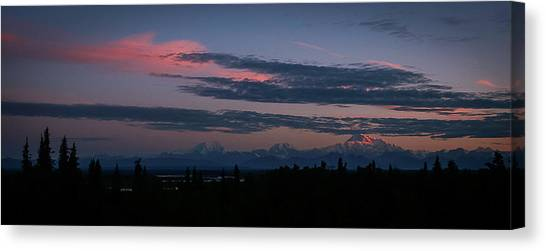 Sunrise And The Alaska Range Canvas Print