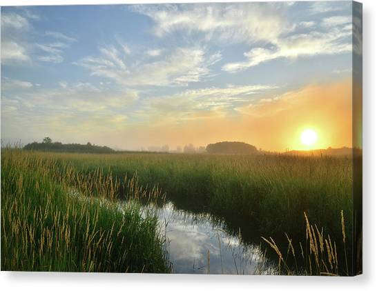 Sunrise At Glacial Park Canvas Print