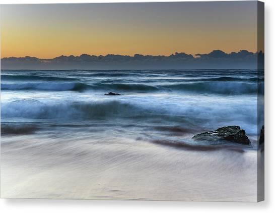 Sunrise By The Sea Canvas Print