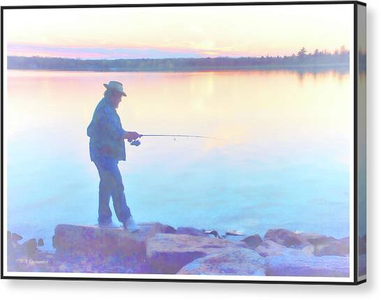 Sunrise Fisherman Canvas Print