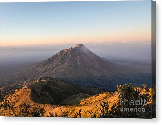 Sunrise Over Java In Indonesia Canvas Print