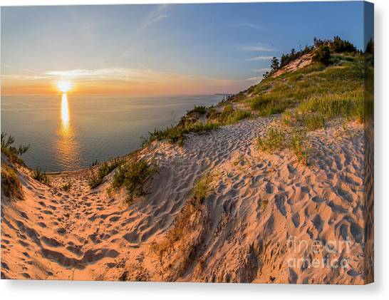 Northern Michigan Canvas Print - Sunset At Old Baldy by Twenty Two North Photography
