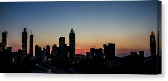 Sunset In Atlanta Canvas Print
