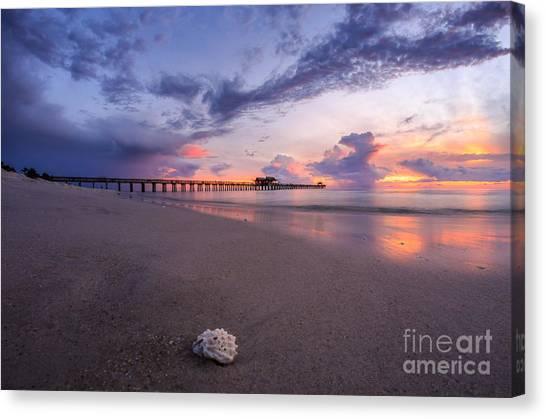 Sunset Naples Pier Florida Canvas Print
