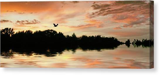 Sunset Horizon Canvas Print - Sunset Pond by Jessica Jenney