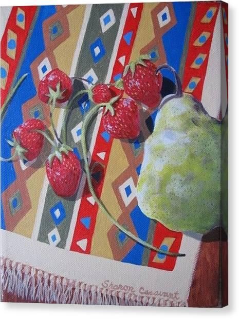 Sunshine On Fruit Canvas Print