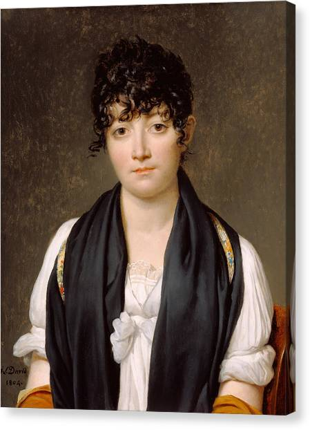 Neoclassical Art Canvas Print - Suzanne Le Peletier De Saint-fargeau by Jacques-Louis David
