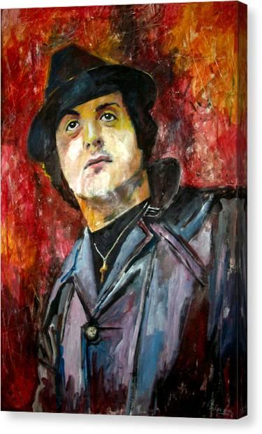 Sylvester Stallone Canvas Print - Sylvester Stallone - Rocky Balboa by Marcelo Neira