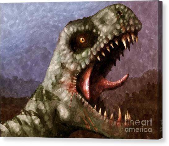 Tyrannosaurus Canvas Print - T-rex  by Pixel  Chimp