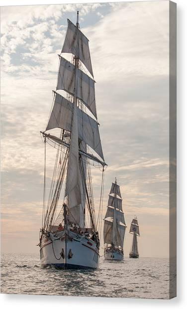 Parade Of Ships Canvas Print