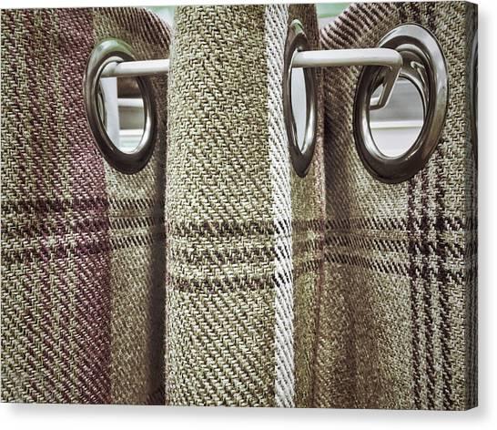 Chequered Canvas Print - Tartan Curtain Pattern by Tom Gowanlock