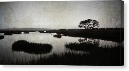 Texas City Wetlands Sunset Canvas Print