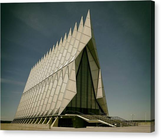 Colorado State University Canvas Print - The Air Force Academy Chapel by Mountain Dreams