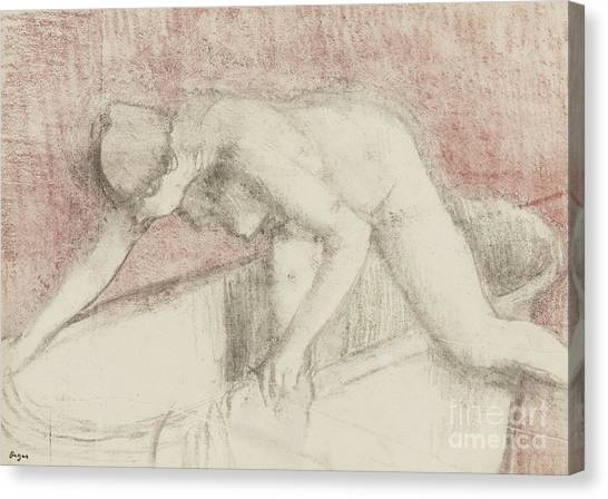 Edgar Degas Canvas Print - The Bath by Edgar Degas
