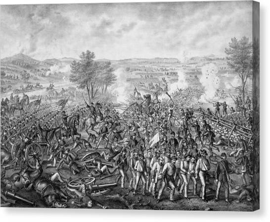 South American Canvas Print - The Battle Of Gettysburg by War Is Hell Store