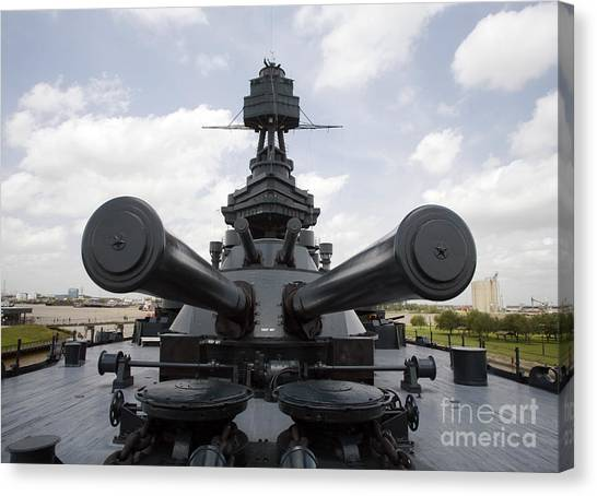 Dreadnought Canvas Print - The Battleship Uss Texas by Michael Wood