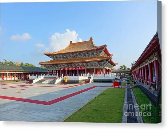 The Confucius Temple In Kaohsiung, Taiwan Canvas Print