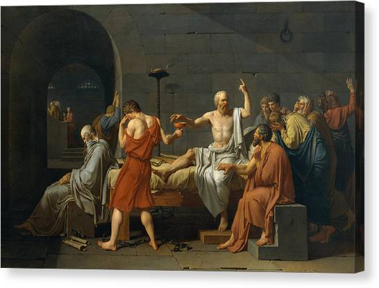 Academic Art Canvas Print - The Death Of Socrates by Jacques Louis David