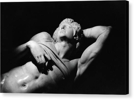 The Louvre Canvas Print - The Dying Slave by Michelangelo Buonarroti