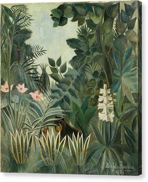 The Equatorial Jungle Canvas Print