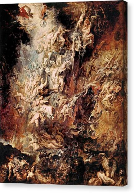 The Fall Of The Damned Canvas Print
