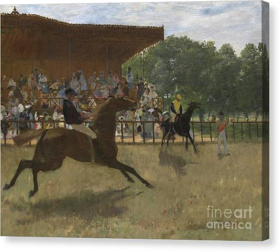 Finish Line Canvas Print - The False Start by Edgar Degas