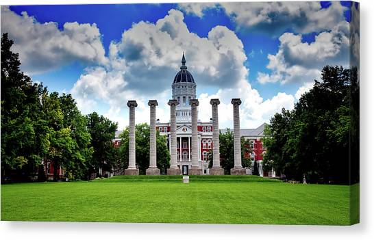 University Of Missouri Canvas Print - The Francis Quadrangle - University Of Missouri by Mountain Dreams