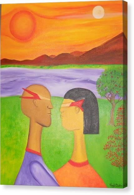 The Future Of Love Canvas Print by Virgil Dublin