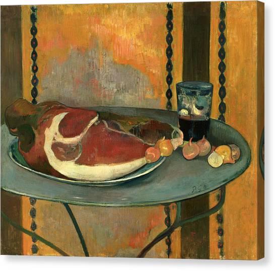 Ham Canvas Print - The Ham by Paul Gauguin