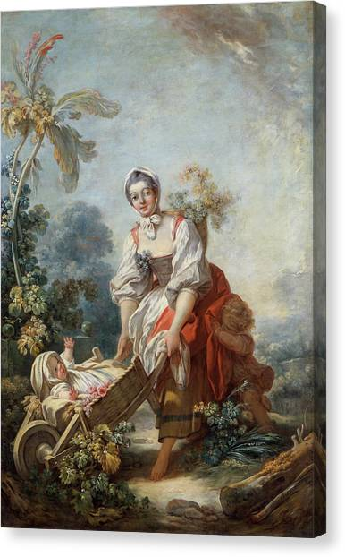 Rococo Art Canvas Print - The Joys Of Motherhood by Jean-Honore Fragonard