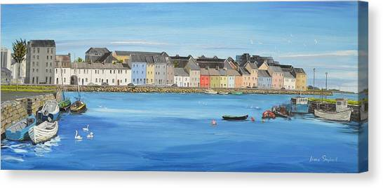 The Long Walk Galway Ireland Canvas Print