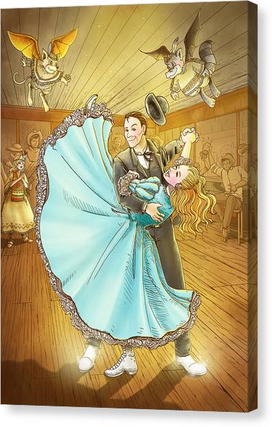 The Magic Dancing Shoes Canvas Print