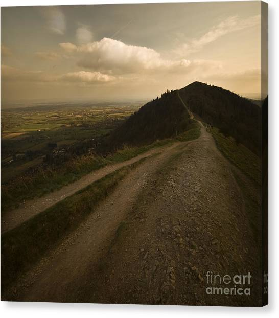 The Malvern Hills Canvas Print by Angel Ciesniarska