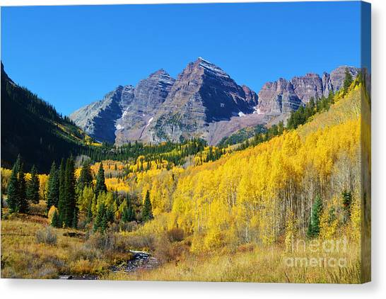 Canvas Print featuring the photograph The Maroon Bells by Kate Avery