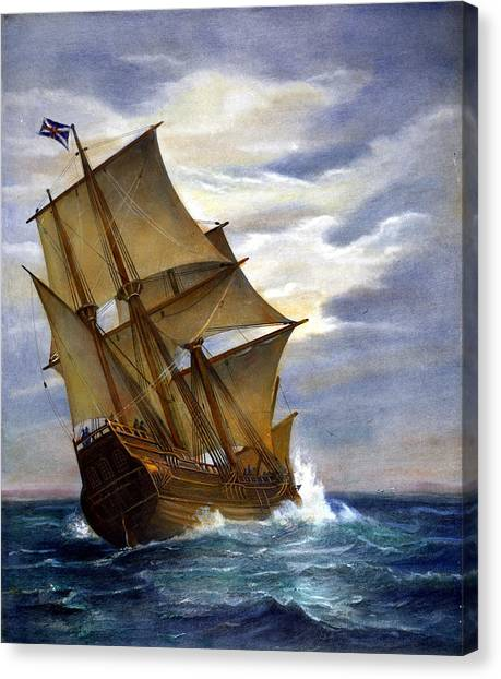Pilgrims Canvas Print - The Mayflower by Granger