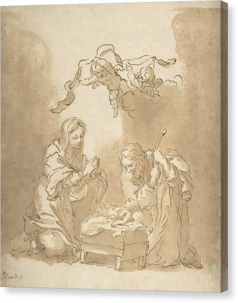 Baroque Canvas Print - The Nativity by Bartolome Esteban Murillo